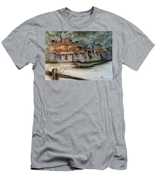 Men's T-Shirt (Slim Fit) featuring the drawing Abandoned by Terri Mills