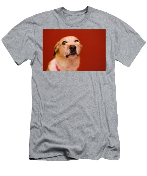 Abbie And A Milky Bone Men's T-Shirt (Athletic Fit)