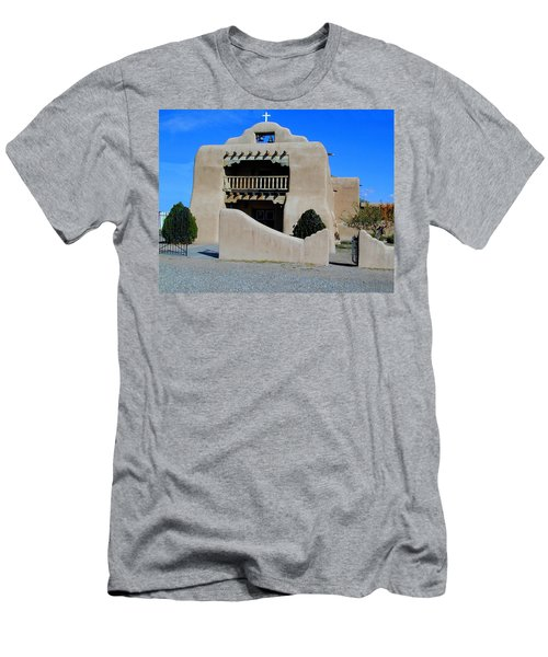 Men's T-Shirt (Athletic Fit) featuring the photograph Abiquiu Church Number 1 by Joseph R Luciano