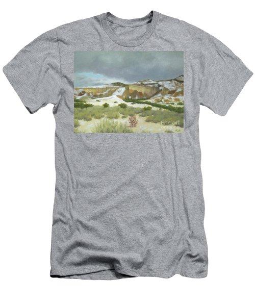 Abiquiu In Winter Men's T-Shirt (Athletic Fit)