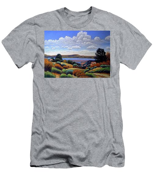Men's T-Shirt (Slim Fit) featuring the painting Above San Mateo by Gary Coleman