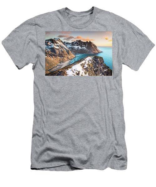 Above The Beach Men's T-Shirt (Slim Fit) by Alex Conu