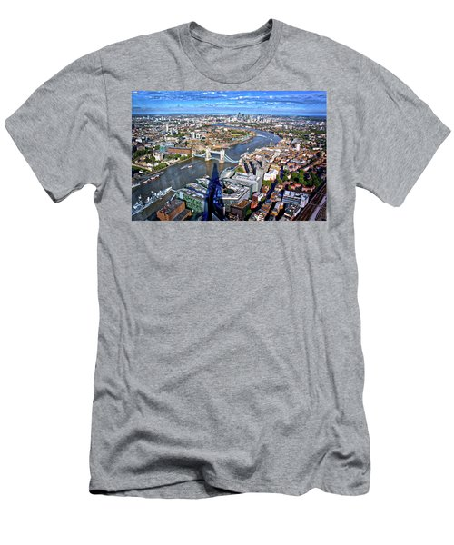 Men's T-Shirt (Slim Fit) featuring the photograph Above The Shadow Of The Shard by Jim Albritton