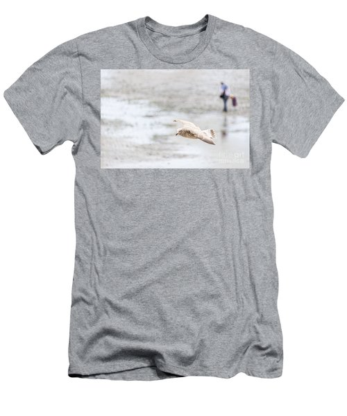 Men's T-Shirt (Slim Fit) featuring the photograph Above The Watten Sea 2 by Hannes Cmarits