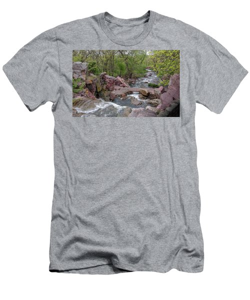 Above Winnewissa Falls 2 Men's T-Shirt (Athletic Fit)