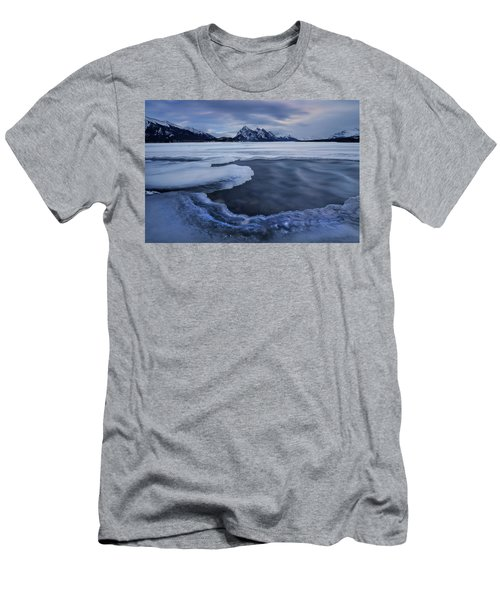 Abraham Lake Sans Bubbles Men's T-Shirt (Athletic Fit)