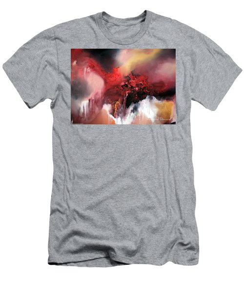 Men's T-Shirt (Slim Fit) featuring the painting Abstract #02 by Raymond Doward
