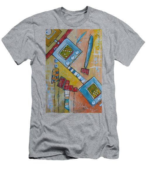 Abstract 74 Men's T-Shirt (Slim Fit) by Karin Husty
