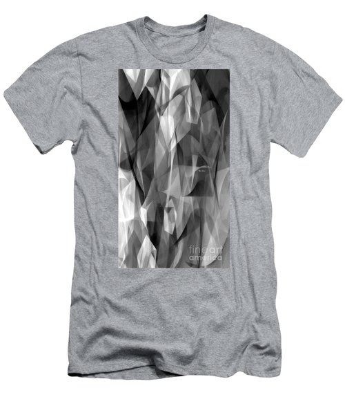 Men's T-Shirt (Athletic Fit) featuring the digital art Abstract Black And White Symphony by Rafael Salazar