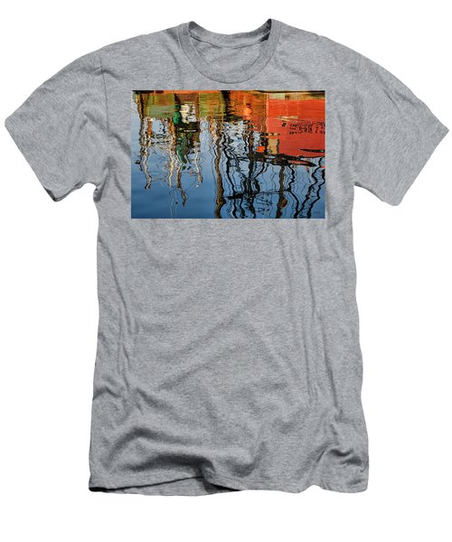 Abstract Boat Reflections Iv Men's T-Shirt (Athletic Fit)