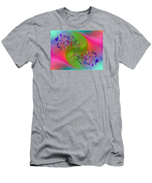 Men's T-Shirt (Slim Fit) featuring the digital art Abstract Cubed 381 by Tim Allen