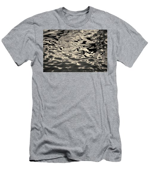 Men's T-Shirt (Athletic Fit) featuring the photograph Abstract Dock Reflections I Toned by David Gordon