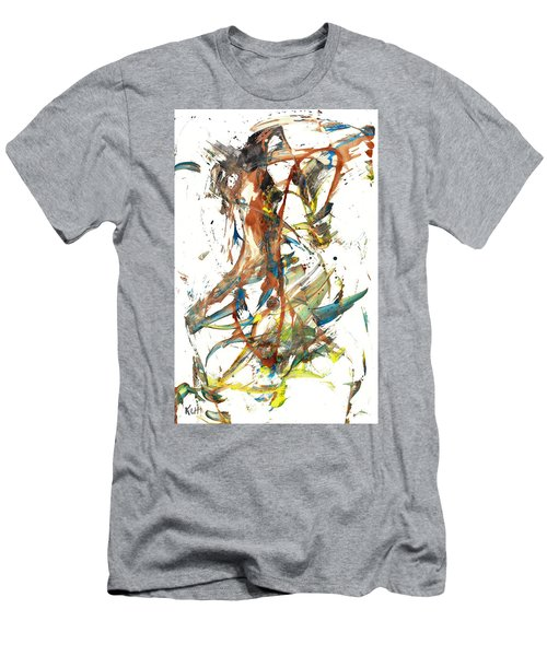 Men's T-Shirt (Athletic Fit) featuring the painting Abstract Expressionism Painting Series 1039.050812 by Kris Haas