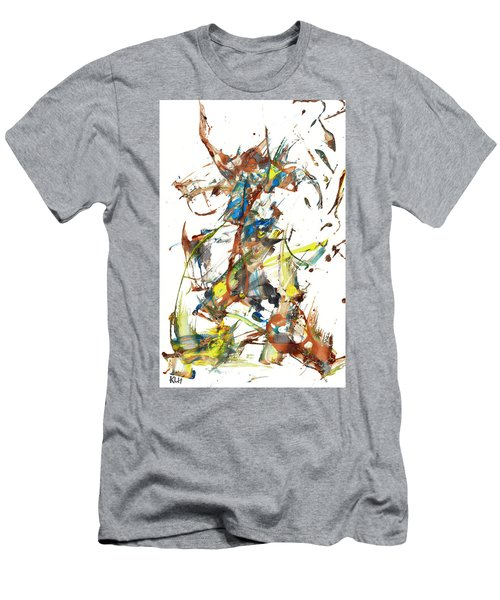 Men's T-Shirt (Athletic Fit) featuring the painting Abstract Expressionism Painting Series 1040.050812 by Kris Haas