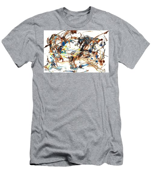 Men's T-Shirt (Athletic Fit) featuring the painting Abstract Expressionism Painting Series 1042.050812 by Kris Haas