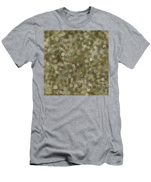 Men's T-Shirt (Athletic Fit) featuring the photograph Abstract Gold And Cream 2 by Clare Bambers