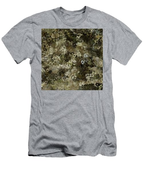 Men's T-Shirt (Athletic Fit) featuring the mixed media Abstract Gold Black White 5 by Clare Bambers
