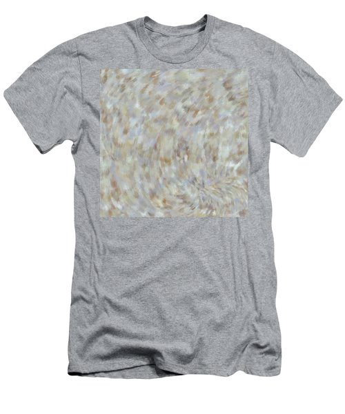 Men's T-Shirt (Athletic Fit) featuring the mixed media Abstract Gold Cream Beige 6 by Clare Bambers