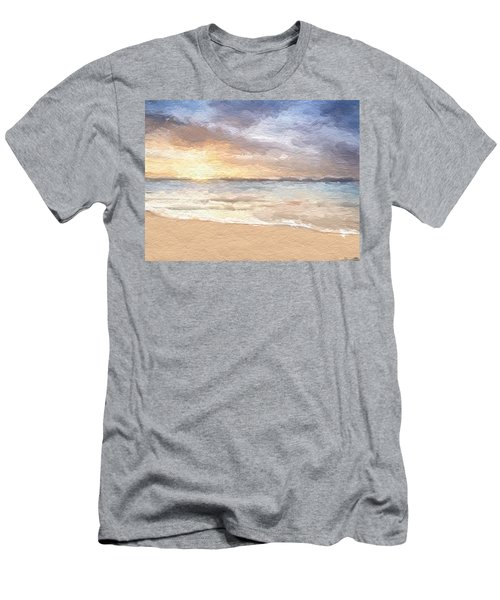Abstract Morning Tide Men's T-Shirt (Slim Fit) by Anthony Fishburne