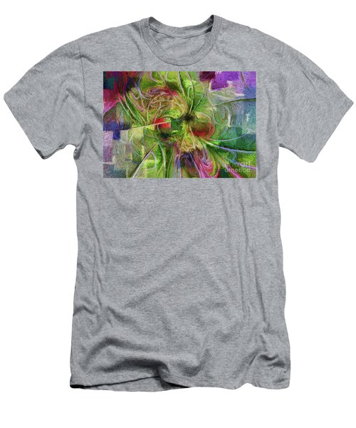 Men's T-Shirt (Slim Fit) featuring the digital art Abstract Of Color by Deborah Benoit