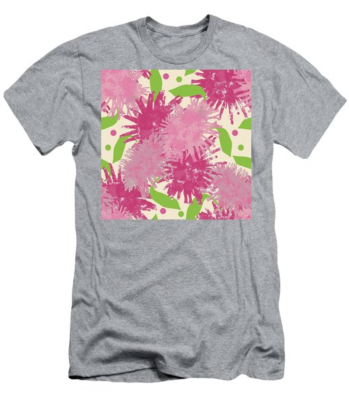 Abstract Pink Puffs Men's T-Shirt (Athletic Fit)