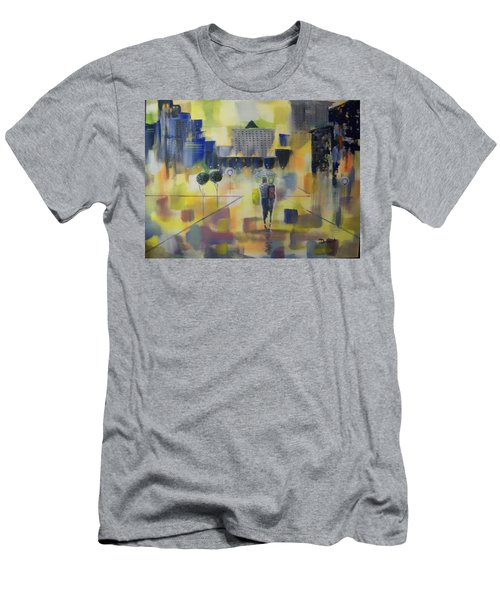 Men's T-Shirt (Slim Fit) featuring the painting Abstract Stroll by Raymond Doward