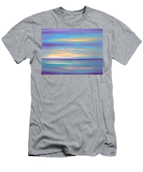 Abstract Sunset In Purple Blue And Yellow Men's T-Shirt (Athletic Fit)