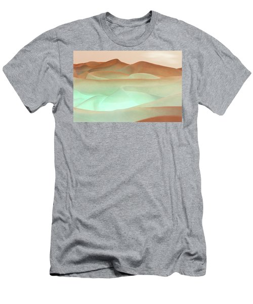 Abstract Terracotta Landscape Men's T-Shirt (Athletic Fit)