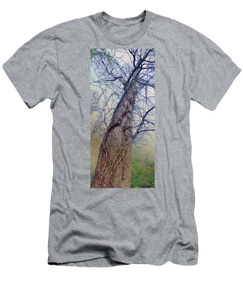 Abstract Tree Trunk Men's T-Shirt (Athletic Fit)
