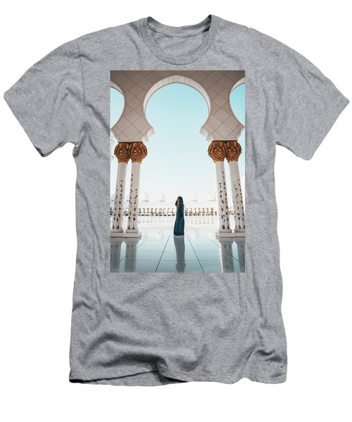 Abu Dhabi Mosque Men's T-Shirt (Athletic Fit)