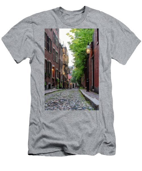Men's T-Shirt (Athletic Fit) featuring the photograph Acorn St. 1 by Michael Hubley