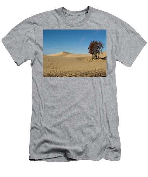 Men's T-Shirt (Slim Fit) featuring the photograph Across The Sand 2 by Tara Lynn