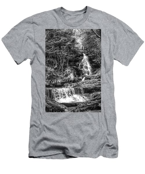 Men's T-Shirt (Slim Fit) featuring the photograph Adams Falls - 8867 by G L Sarti