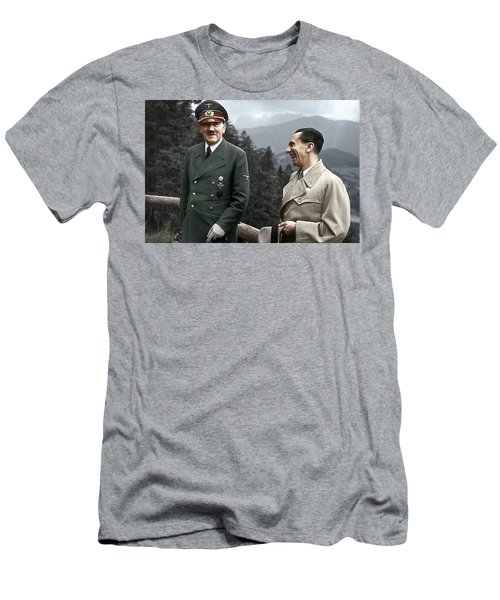 Adolf Hitler Joseph Goebbels Berghof Retreat  Number 2 Agfacolor Heinrich Hoffman Photo Circa 1942 Men's T-Shirt (Athletic Fit)