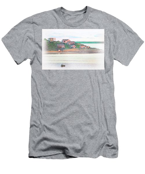 Adrift On The Bay At Sunset Men's T-Shirt (Athletic Fit)