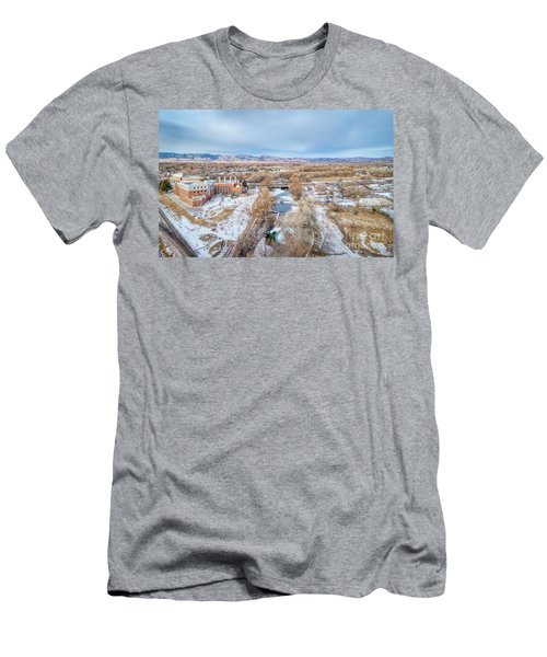 aerial cityscape of Fort Collins Men's T-Shirt (Athletic Fit)