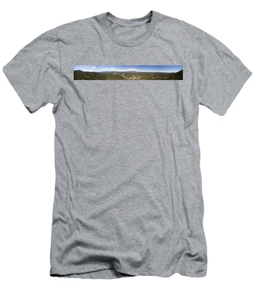 Aerial Pano Of Evergreen Men's T-Shirt (Athletic Fit)