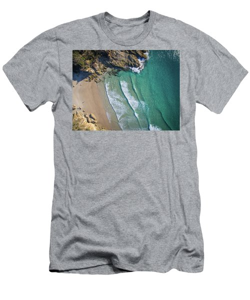 Aerial Shot Of Honeymoon Bay On Moreton Island Men's T-Shirt (Athletic Fit)