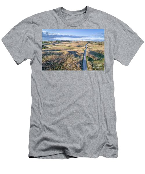 aerial view of Nebraska Sandhills  Men's T-Shirt (Athletic Fit)