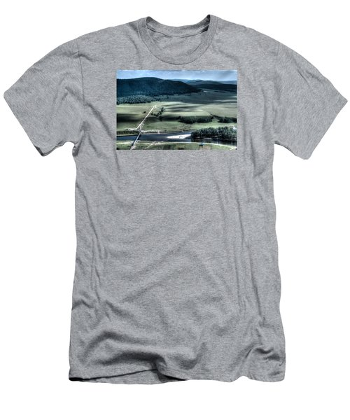 Aerial View Of Rolling Russian Hills Men's T-Shirt (Slim Fit) by John Williams