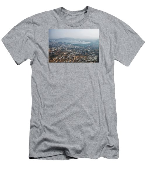 Men's T-Shirt (Athletic Fit) featuring the photograph Aeriel View Of Udaipur From Monsoon Palace by Yew Kwang