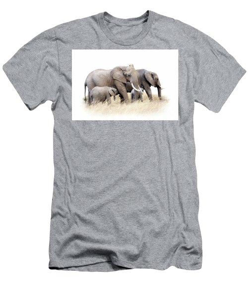 African Elephant Group Isolated Men's T-Shirt (Athletic Fit)