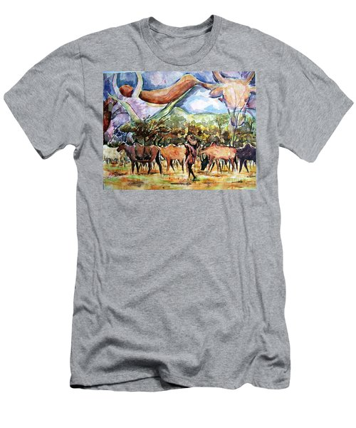 African Herdsmen Men's T-Shirt (Athletic Fit)