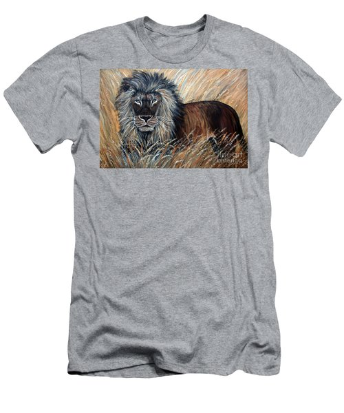 African Lion 2 Men's T-Shirt (Athletic Fit)