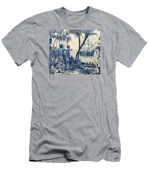 African Tile Art Men's T-Shirt (Slim Fit) by John Potts