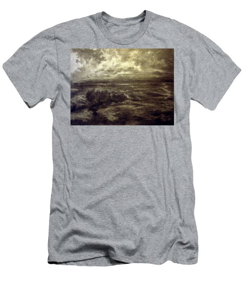 Men's T-Shirt (Slim Fit) featuring the drawing After Rain by Mikhail Savchenko