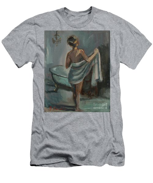 After The Bath Men's T-Shirt (Slim Fit) by Jennifer Beaudet