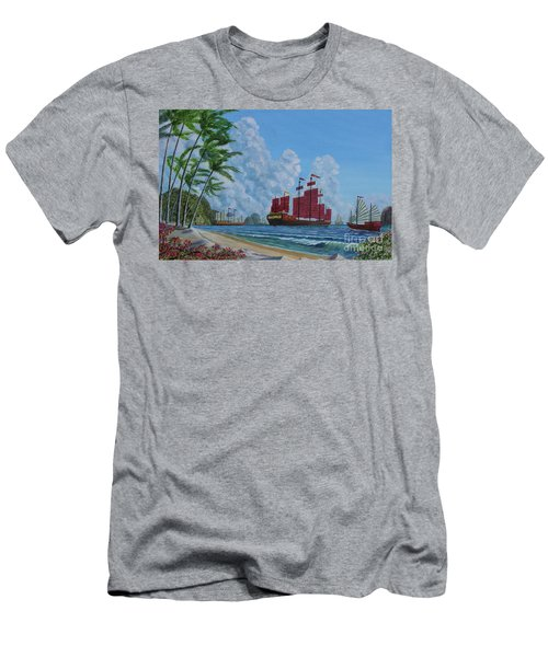 Men's T-Shirt (Slim Fit) featuring the painting After The Storm by Anthony Lyon
