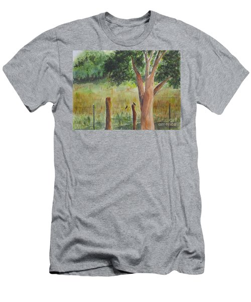 Men's T-Shirt (Slim Fit) featuring the painting Afternoon Chat by Vicki  Housel