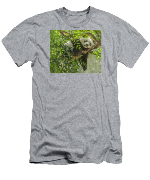 Afternoon Nap Baby Panda Men's T-Shirt (Athletic Fit)